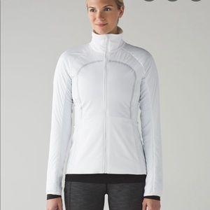 Nwt Lululemon run for cold jacket white sz 4